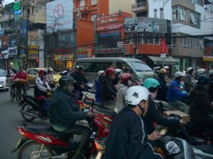 busy in the cities of Vietnam traffic is something else -only1invillage.com