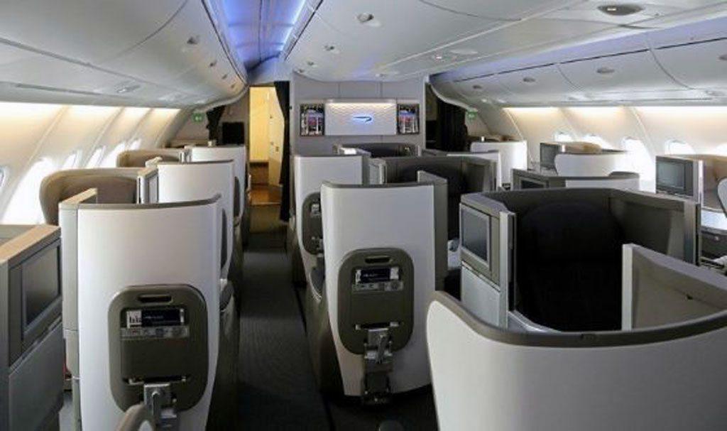 BA A380 business class flight London to Singapore