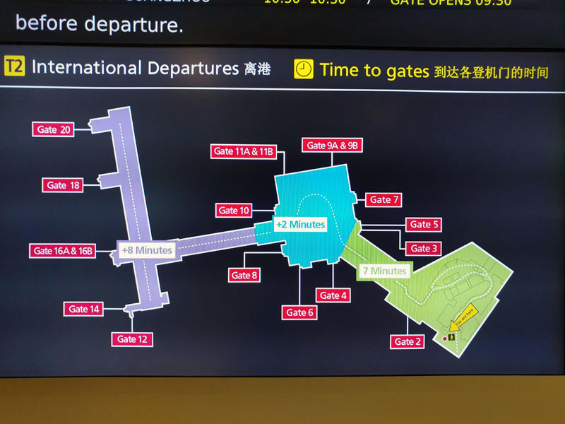 The entrance to the American Express Lounge Melbourne Airport is at the centre of the blue section