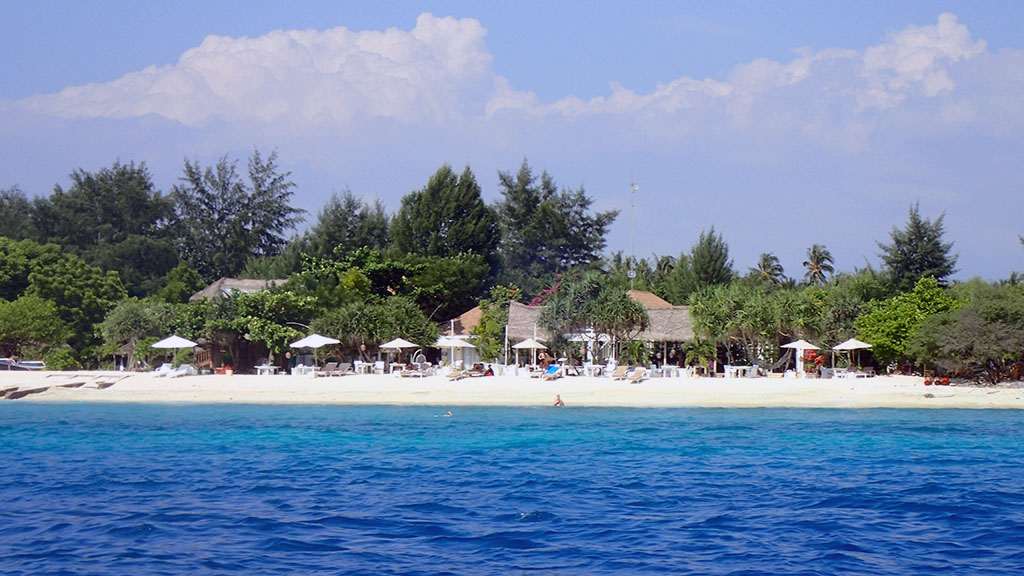 Much quieter than Gili T for couples looking to relax without the partying