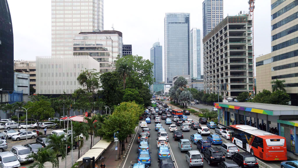 Traffic jams in Jakarta are constant things to do in Java