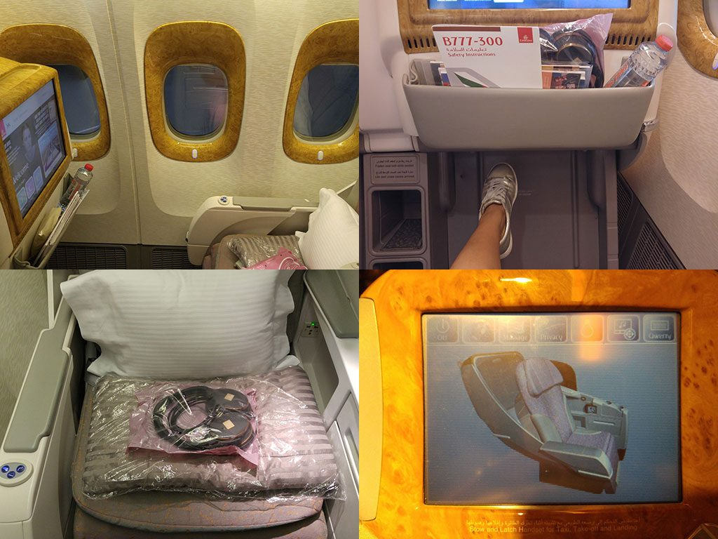 only1invillage emirates 777 300 business class review