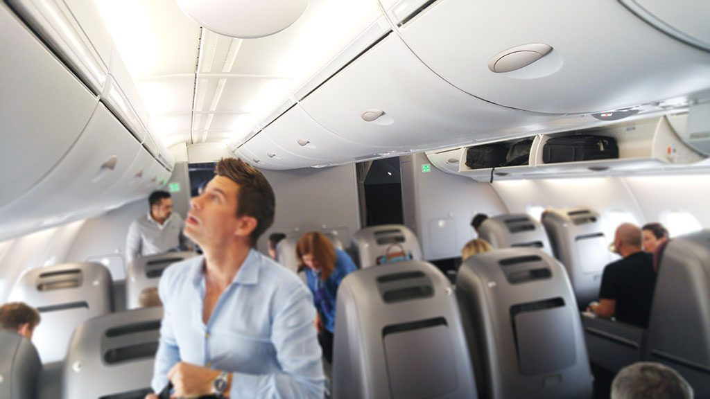 Qantas A380 business class cabin flight review Melbourne to Singapore Only1invillage