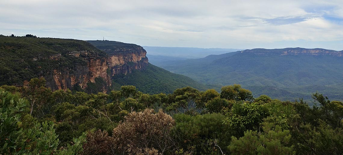 The Blue Mountains in NSW Australia