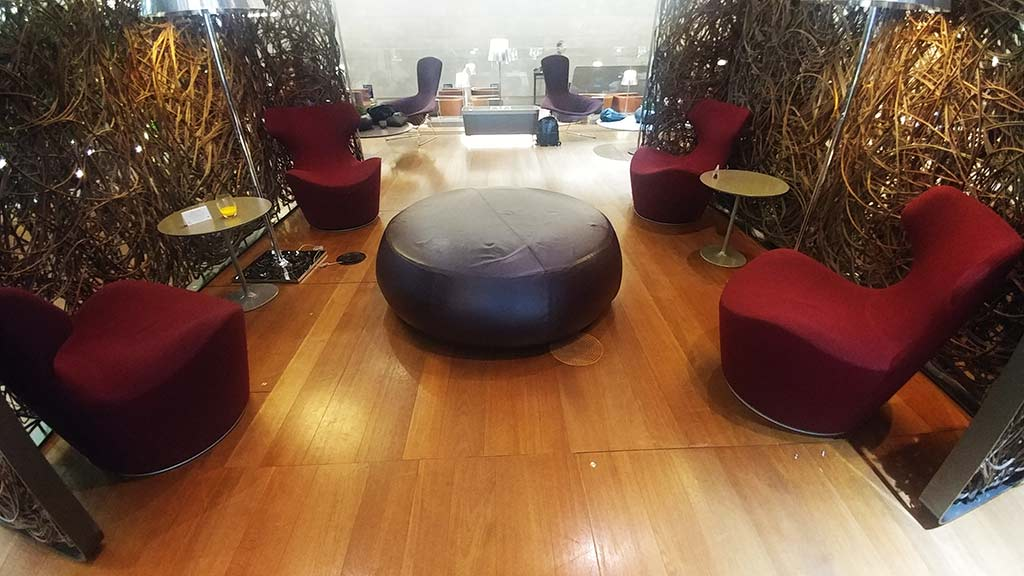 funky seats Al Mourjan business lounge DOha