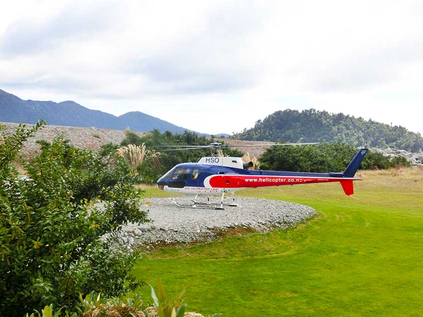 things to do South Island New Zealand helicopter to Franz Josef Glacieronly1invillage