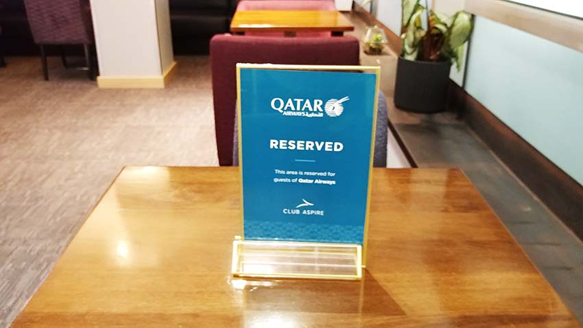 Gatwick Club Aspire Lounge used by Qatar Airways for its business class passengers review by only1invillage